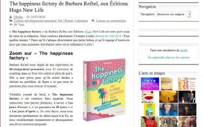 The Happiness Factory de Barbara Reibel aux Editions Hugo New Life
